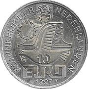 10 Euro - Beatrix (P.C. Hooft) -  obverse