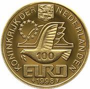 100 Euro - Beatrix (M.C. Escher) -  obverse