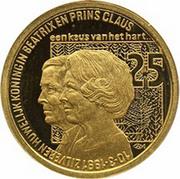 100 ECU - Beatrix (25yr marriage Beatrix & Claus) -  reverse