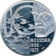 50 Euro - Beatrix (M. C. Escher) -  reverse