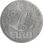 20 Euro - Beatrix (M.C. Escher) -  obverse