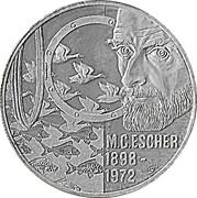 20 Euro - Beatrix (M.C. Escher) -  reverse