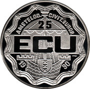 25 ECU - Beatrix (Europa Conference in Amsterdam; with town-arms) -  obverse