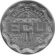 2½ ECU - Beatrix (Christiaan and Constantijn Huygens) -  obverse