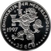 25 ECU - Beatrix (Johan Maurits van Nassau-Siegen) -  obverse