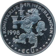 ECU - Beatrix (M.C. Escher - Swans and Scenery) -  obverse