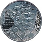 ECU - Beatrix (M.C. Escher - Swans and Scenery) -  reverse