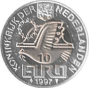 10 Euro - Beatrix (Johan Van Oldenbarnevelt) -  reverse