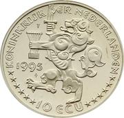 10 ECU - Beatrix (Grotius) -  obverse