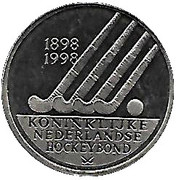 ECU - Beatrix (100 years KNHB) -  reverse