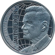 ECU - Beatrix (Jan Tinbergen - Nobel Prize) -  reverse