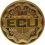200 ECU - Beatrix (Leeghwater) -  obverse