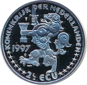 2½ ECU - Beatrix (Johan Maurits van Nassau-Siegen) -  obverse
