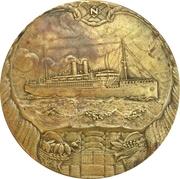 Medal - 50 years existence of the Stoomvaart Maatschappij -  obverse