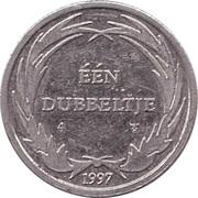 1 Dubbeltje - Walt Disney Dagobert Duck Geluksdubbeltje -  obverse