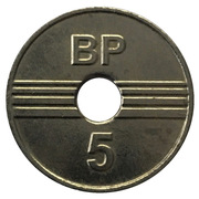 Car Wash Token - BP CarWach (5) – reverse