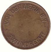 Car Wash Token - Van Den Herik B.V. (Zwijndrecht) – reverse