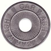 Car Wash Token (24 mm) – obverse
