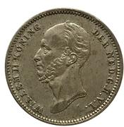 25 Cents - Willem II – obverse