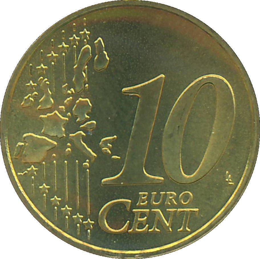 10 Euro Cent - Beatrix (1st map) - Netherlands – Numista