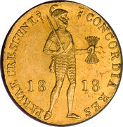 1 Ducat - Willem I (Trade Coinage) – obverse
