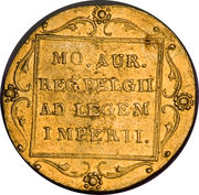 1 Ducat - Willem I (Trade Coinage) – reverse