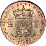 ½ Gulden - Willem I – reverse