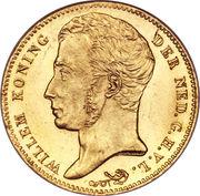 10 Gulden - Willem I – obverse