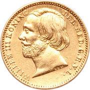 5 Gulden - Willem III – obverse