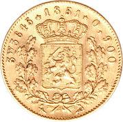 5 Gulden - Willem III – reverse