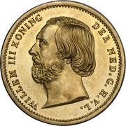 10 Gulden - Willem III – obverse