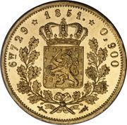 10 Gulden - Willem III – reverse