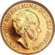 10 Gulden - Wilhelmina – obverse