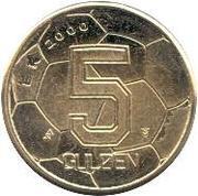 5 Gulden - Beatrix (European Football Championship) – reverse