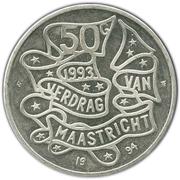 50 Gulden - Beatrix (Maastricht Treaty) – reverse