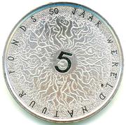 5 Euro - Beatrix (WWF Anniversary) – reverse