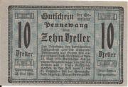 10 Heller (Pennewang) – obverse