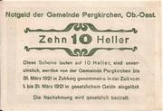 10 Heller (Pergkirchen) -  reverse