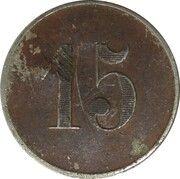 15 Centimes - Cément Obier (Périgueux) – reverse