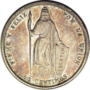 50 Centimos (Pattern) – reverse