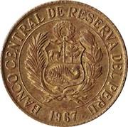 ½ Sol de Oro (Large Coat of Arms) -  obverse