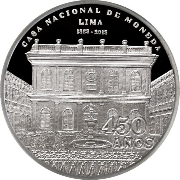 PERU 1 Nuevo Sol 2015 450 years CASA NACIONAL DE MONEDA PERUVIAN MINT UNC