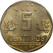 5 Céntimos -  reverse