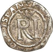 ½ Real - Felipe II (RI, with R) – obverse