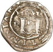 ½ Real - Felipe II (RI, with R) – reverse