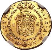 1 Escudo - Fernando VII -  reverse