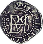 ½ Real - Felipe II (monogram) – obverse