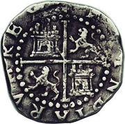 ½ Real - Felipe II (monogram) – reverse