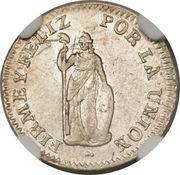 ½ Real (North Peru) – reverse