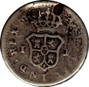 ¼ Real - Carlos IV (arms) – reverse